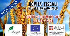 NOVITÀ FISCALI NEL SETTORE AGRICOLO – 21 Dicembre 2015
